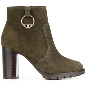 NEW TORY BURCH Sophie lug sole bootie Dark Green